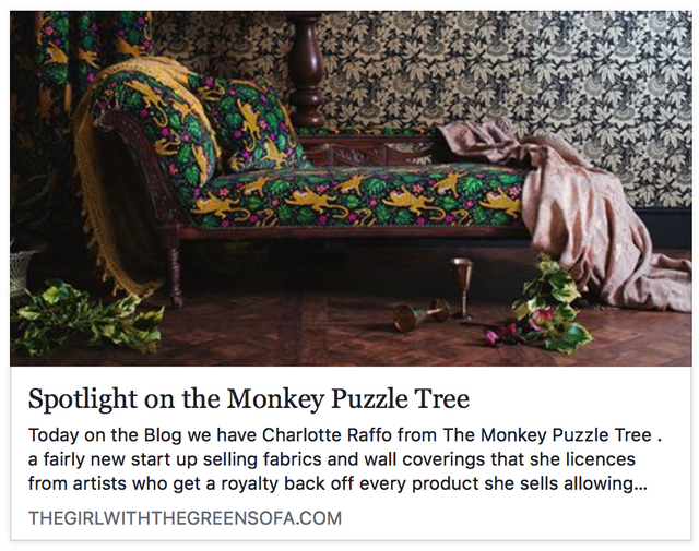 Spotlight on The Monkey Puzzle Tree - Nicola Broughton 'The Girl with the Green Sofa'