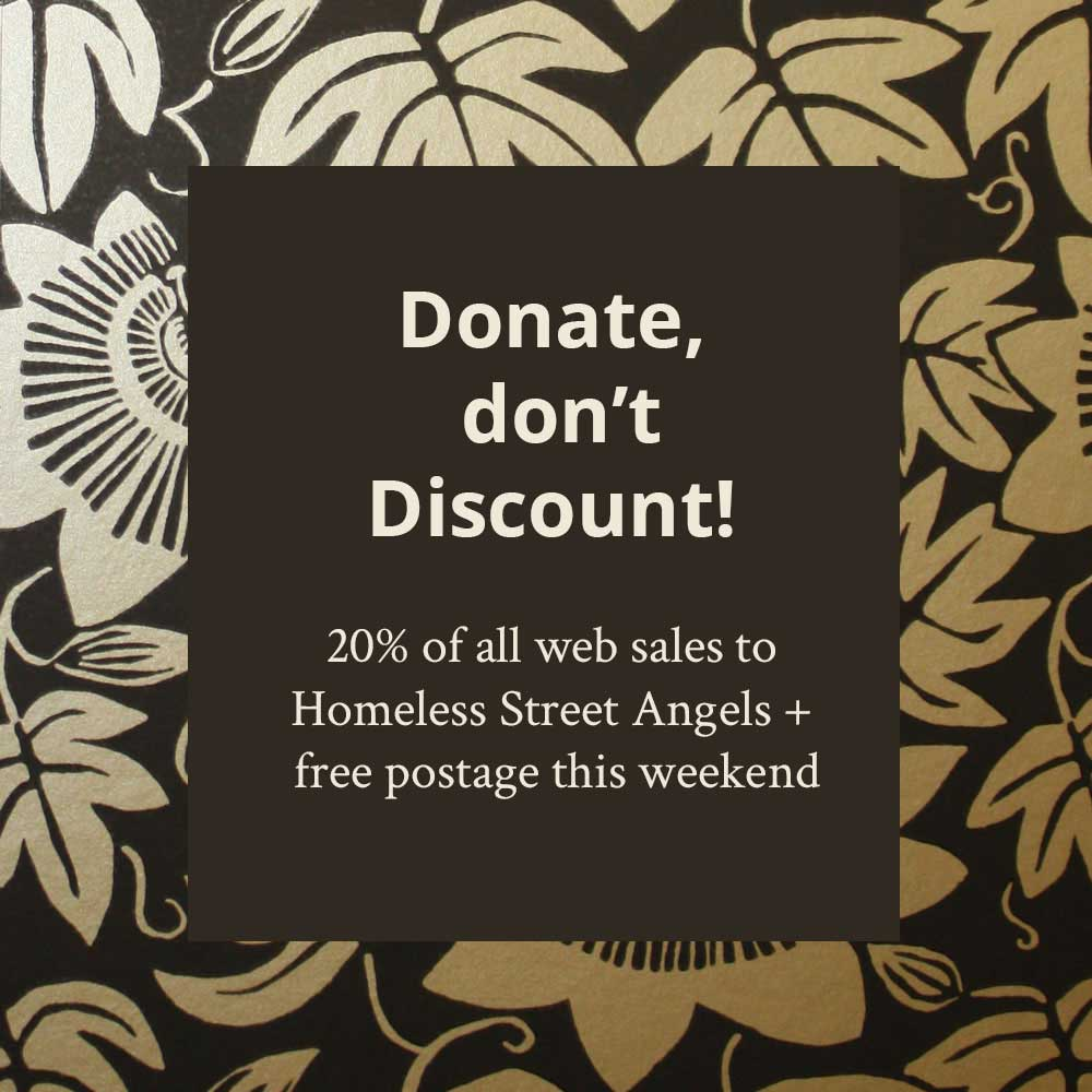 20% to Charity Homeless Street Angels and Free Postage this Black Friday Weekend