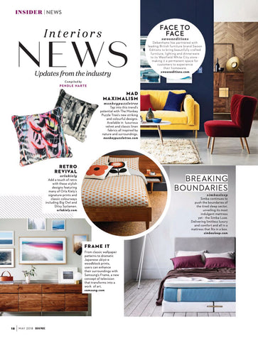 Absolutely Home Magazine features cushions by The Monkey Puzzle Tree