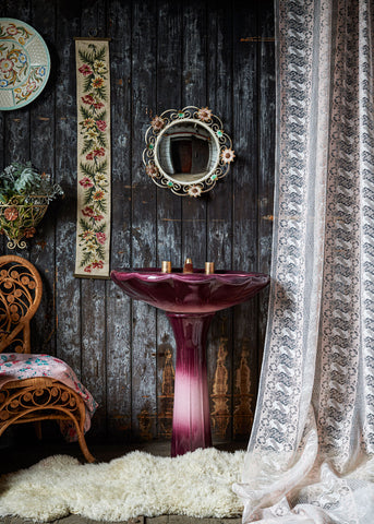 Naughty Lace net curtains by The Monkey Puzzle Tree