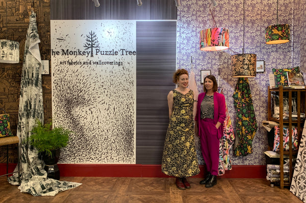 Charlotte Raffo and Sarah Thornton from The Monkey Puzzle Tree at Decorex in 2019