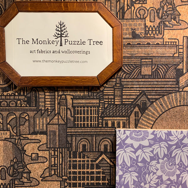 Hit the North real cork wallpaper by The Monkey Puzzle Tree at the Surface Design Show