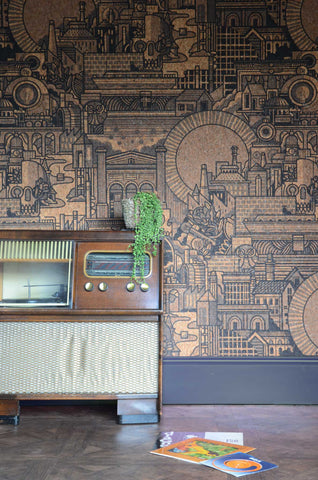 Hit the North Cork wallpaper by Drew Millward for The Monkey Puzzle Tree