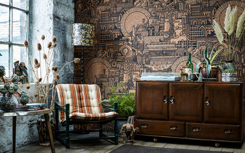 Hit the North real cork wallpaper by The Monkey Puzzle Tree