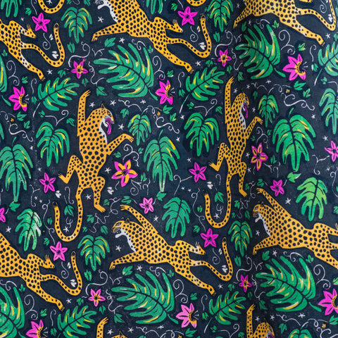 How the Leopard got his Spots printed velvet by The Monkey Puzzle Tree