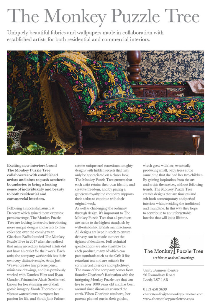 The Monkey Puzzle Tree Company Profile in the Interior Design Yearbook 2019