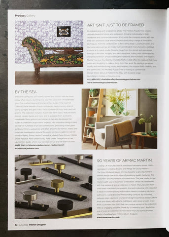Interior Designer magazine featuring The Monkey Puzzle Tree