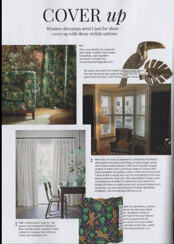How the Leopard got his Spots velvet by The Monkey Puzzle Tree featured in Living North Magazine