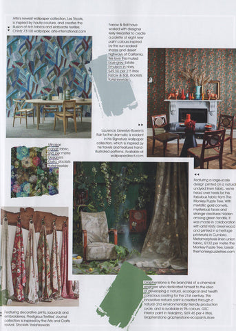 Metamorphosis linen union by The Monkey Puzzle tree featured in Living North Magazine