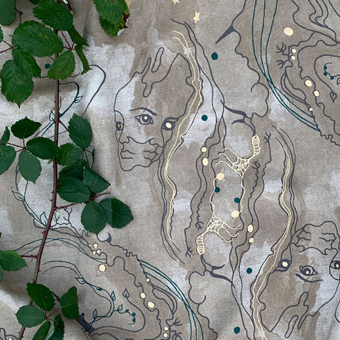 Metamorphosis Linen Union Fabric by The Monkey Puzzle Tree
