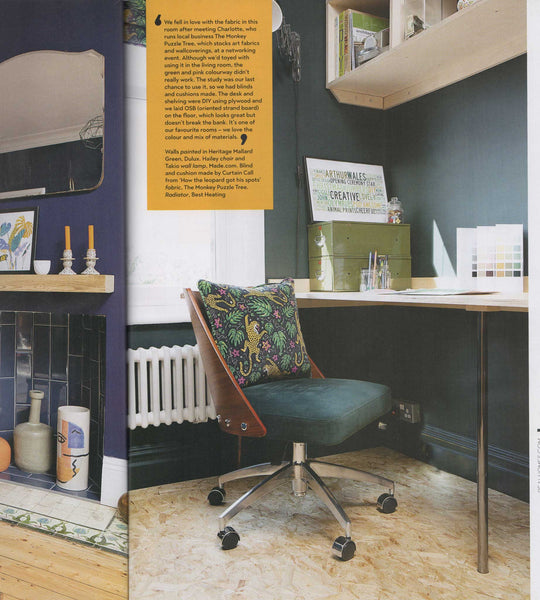 Real Homes magazine featuring How the Leopard got his Spots Velvet The Monkey Puzzle Tree