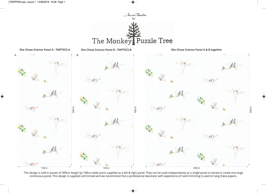 She Chose Science wallpaper layout - The Monkey Puzzle Tree