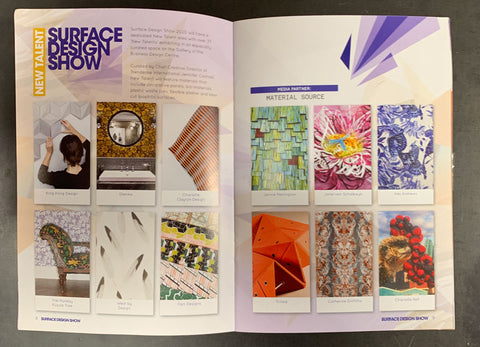 Surface Design Show 2020 New Talent Brochure featuring The Monkey Puzzle Tree