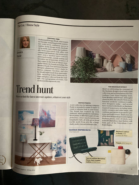 Telegraph Magazine Clerkenwell Design Week 2019 featuring The Monkey Puzzle Tree