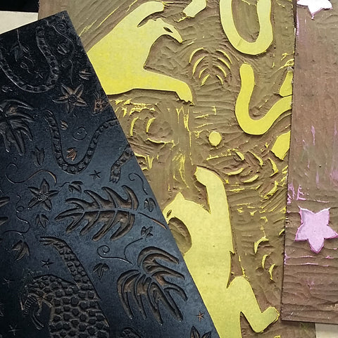 Alexis Snell Lino print behind the scenes at The Monkey Puzzle Tree