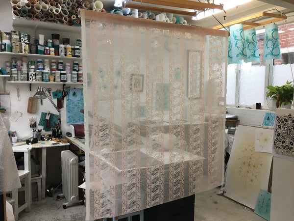 Sarah Jane Palmers studio featuring Body Lace by The Monkey Puzzle Tree
