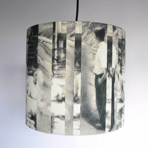 Between Certainty and Oblivion Linen Lampshade