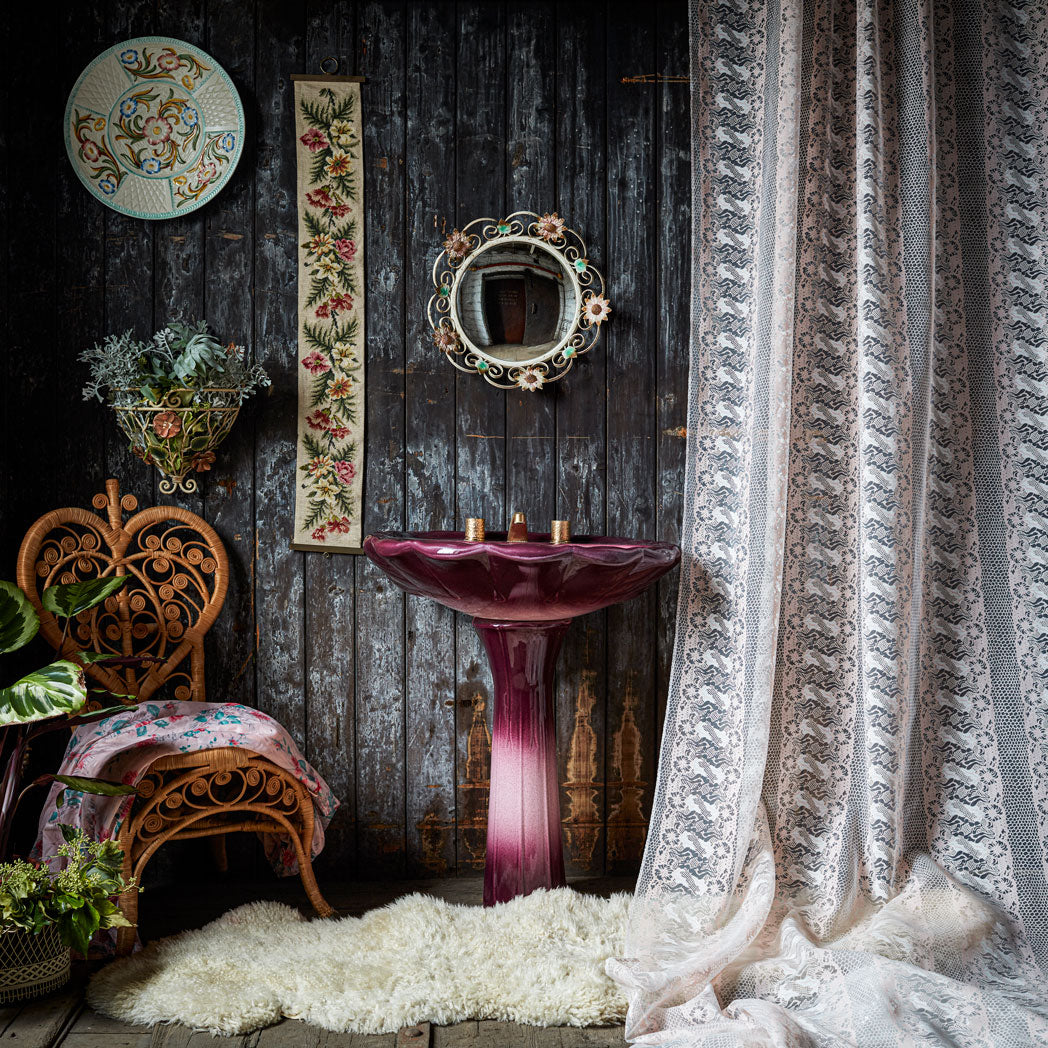 Body Lace Voile vintage bathroom by The Monkey Puzzle Tree