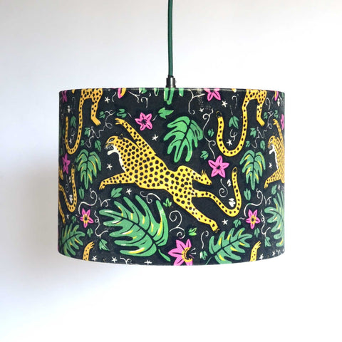 How the Leopard got His Spots Velvet Lampshade