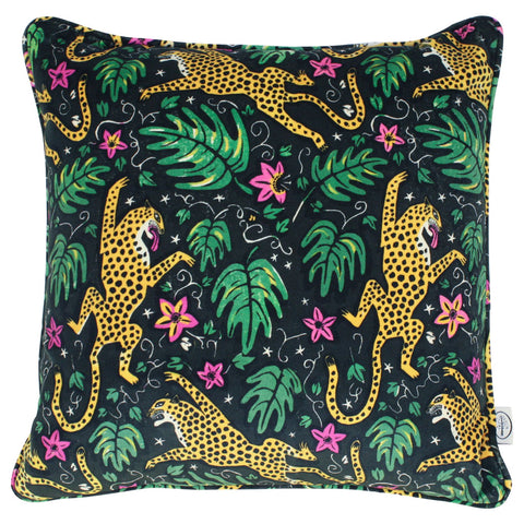 How the Leopard got his Spots Velvet Cushion