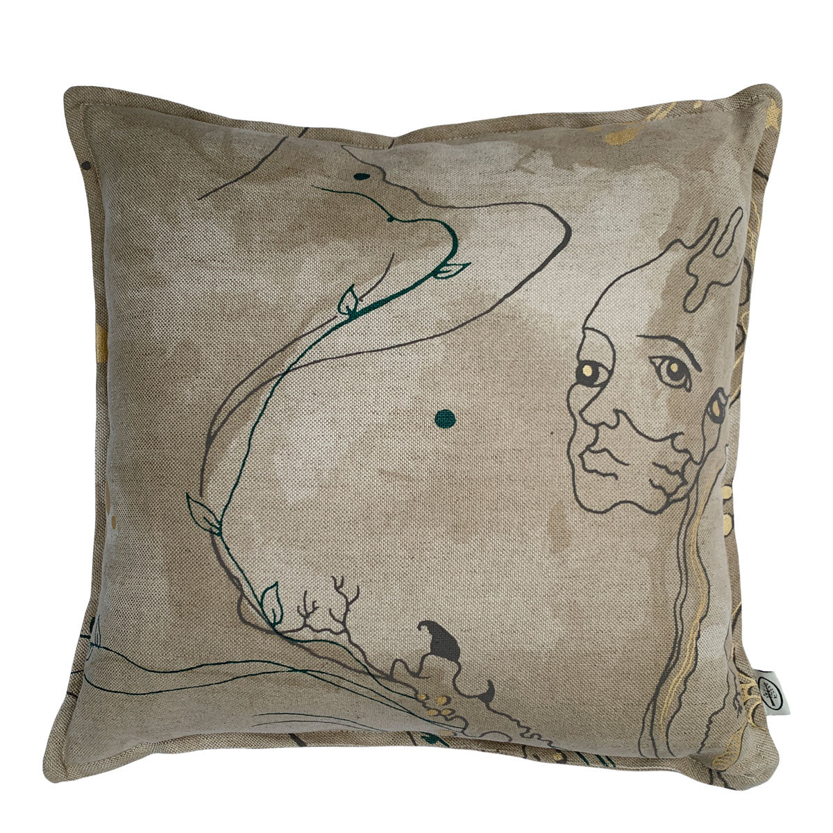 Large Metamorphosis Linen Union Cushion