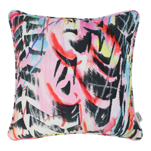 Rita does Jazz velvet cushion by Sarah Thornton for The Monkey Puzzle Tree