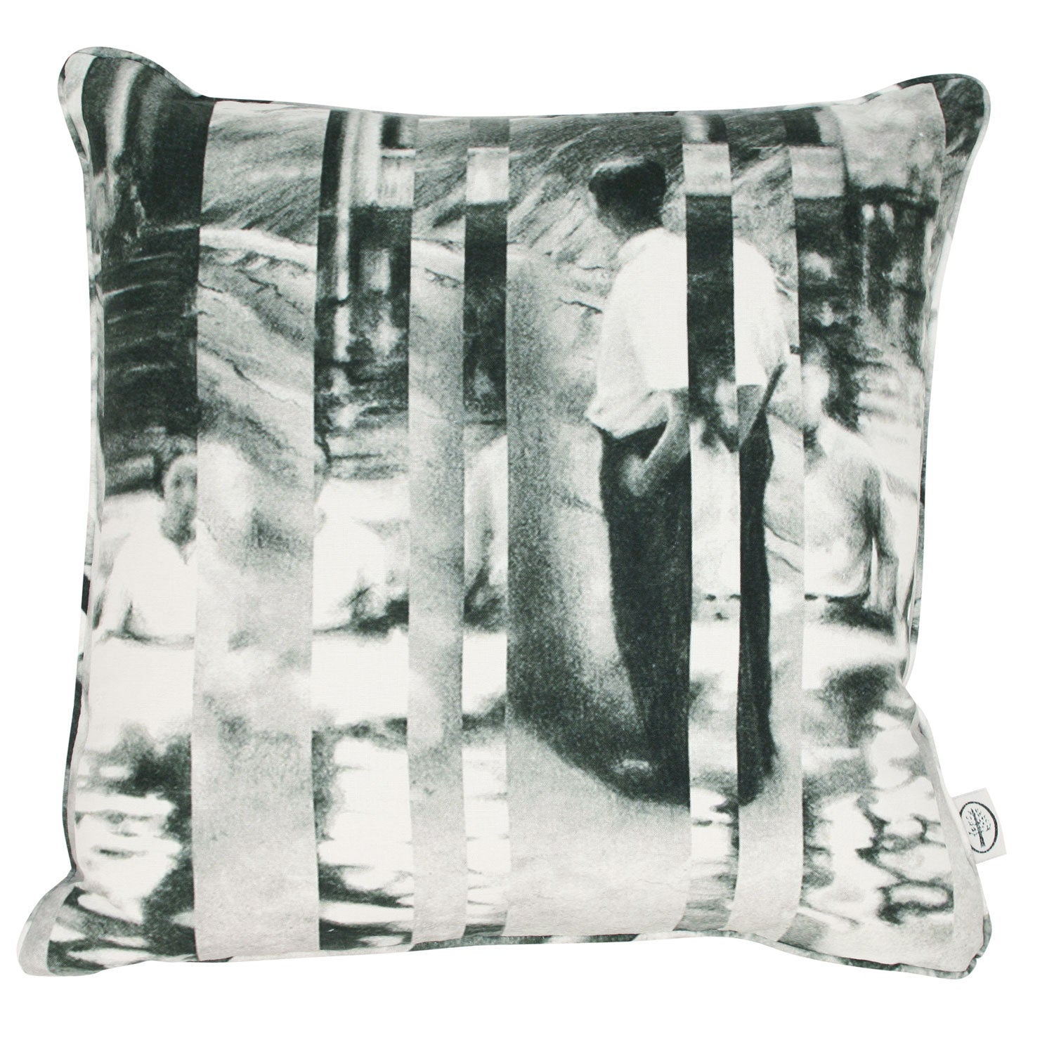 Between Certainty and Oblivion Linen Cushion by Joel Weaver for The Monkey Puzzle Tree