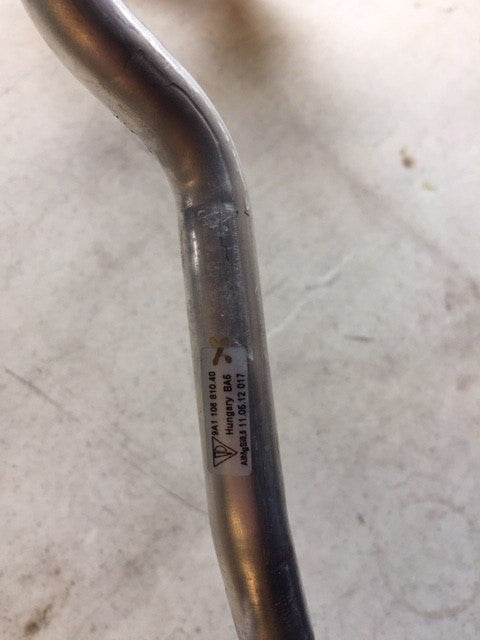 Heater Tube, Porsche Part 9A1.106.810.40