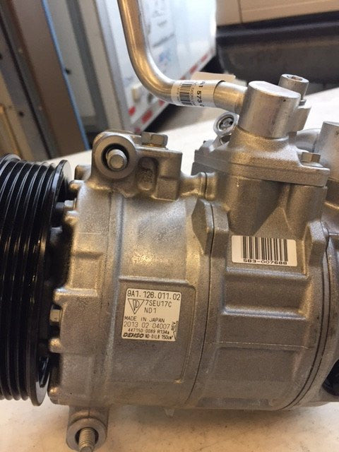 A/C Compressor with clutch, Porsche Part 9A1.126.011.02