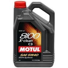 Motul 5L Synthetic Engine Oil 8100 5W40 X-CLEAN