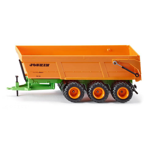 Joskin triple-axle tipping trailer