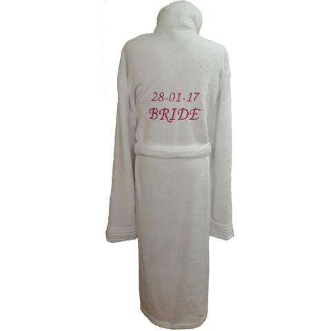 Personalised Adult Bathrobe - White