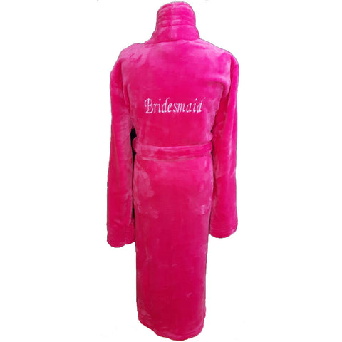 Personalised Adult Bathrobe - Cerise Pink