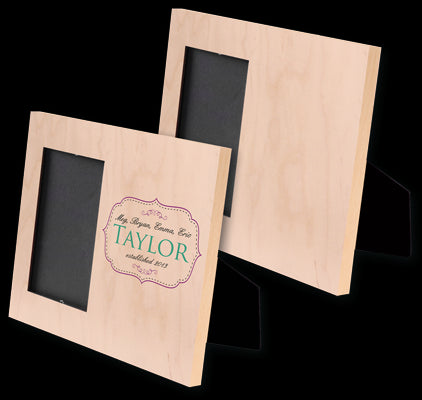 Natural Wood Offset Picture Frame Little Folk More