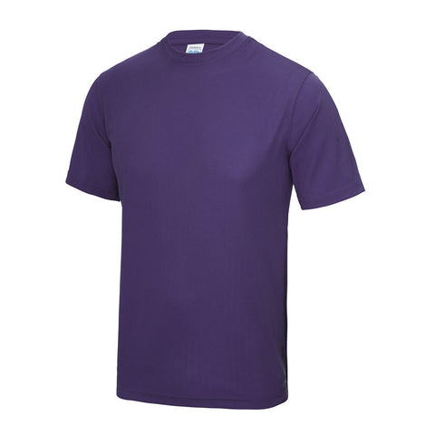 Printed Round-neck Cool T-Shirt - Purple
