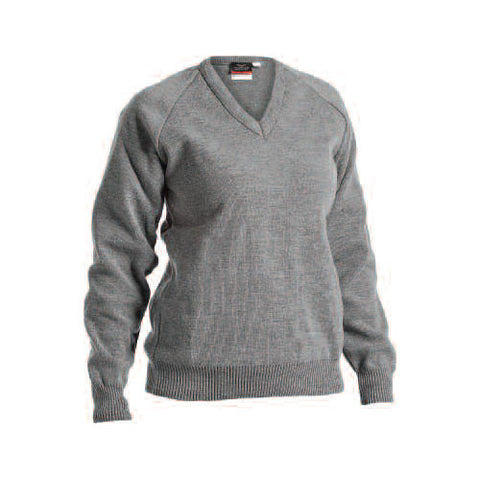 St. Patrick's N.S. Castletown Grey V-Neck Jumper