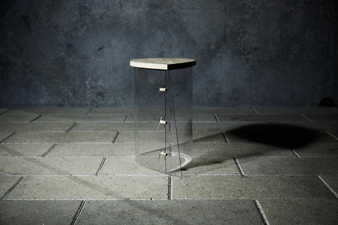 Illusion PP oak Jochimsen design stool