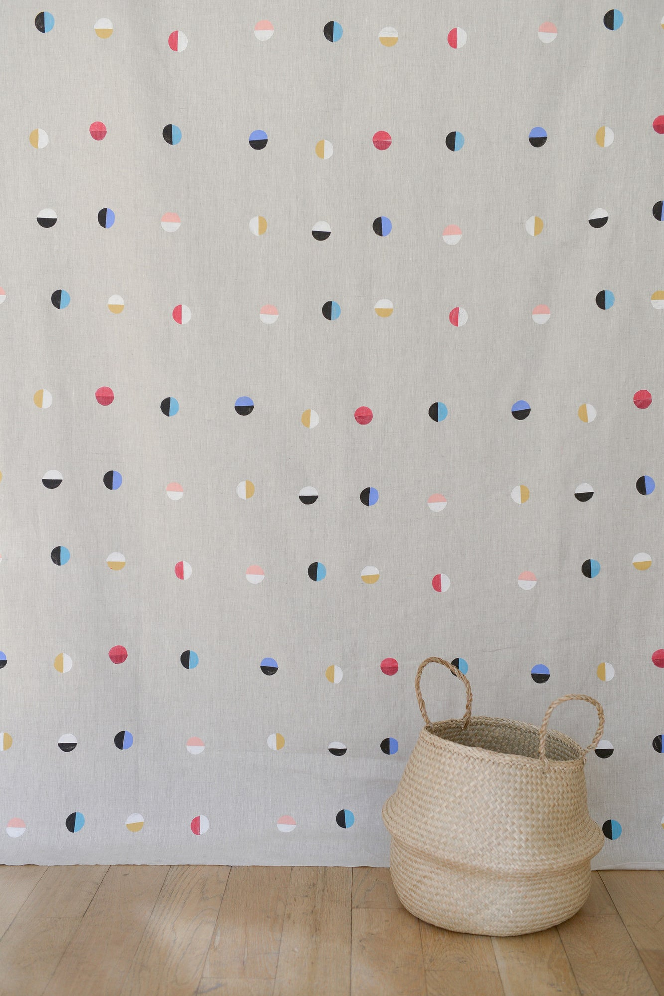 Natural Moons - Fabric By The Yard