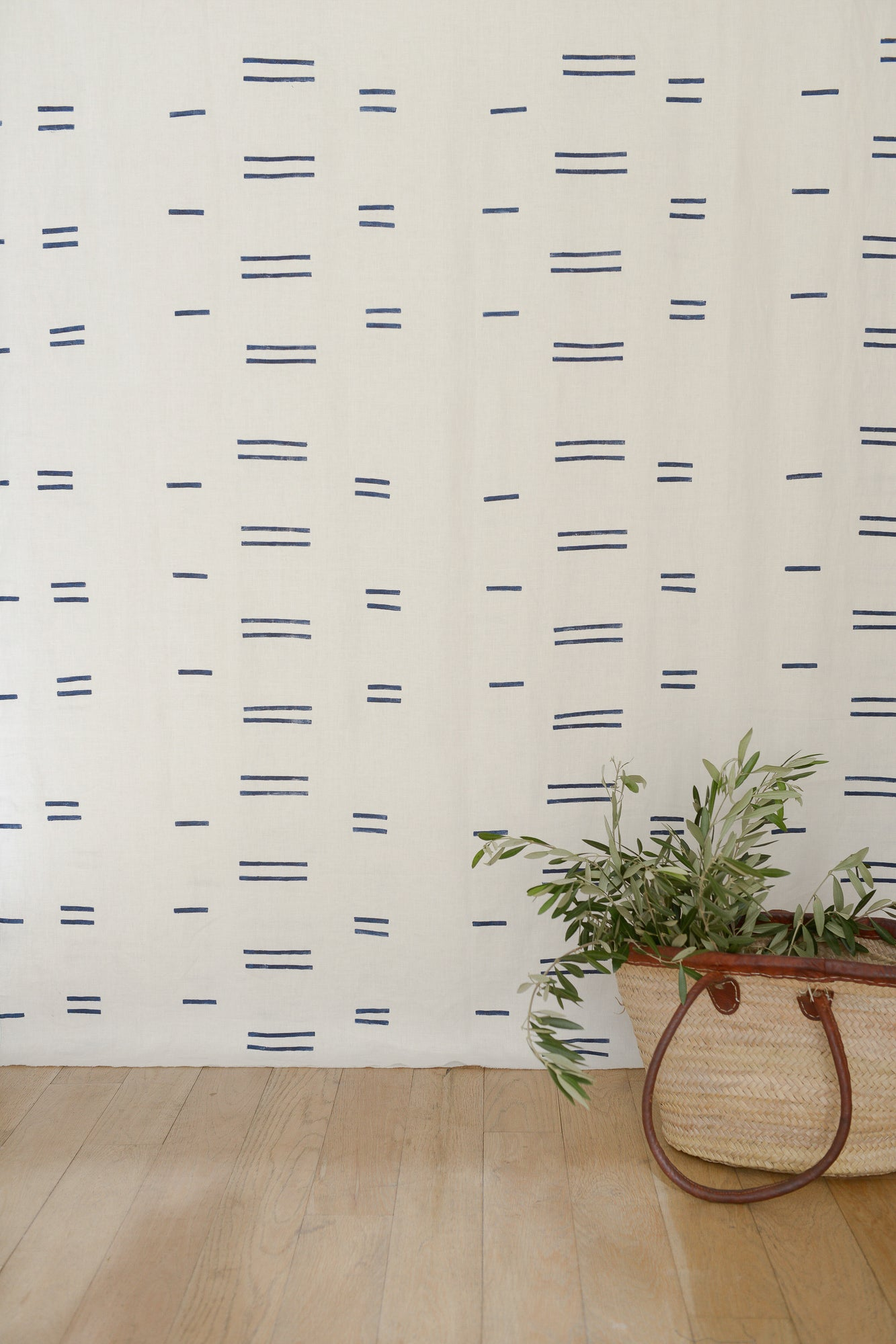 Oaxaca Navy on White - Fabric by the Yard