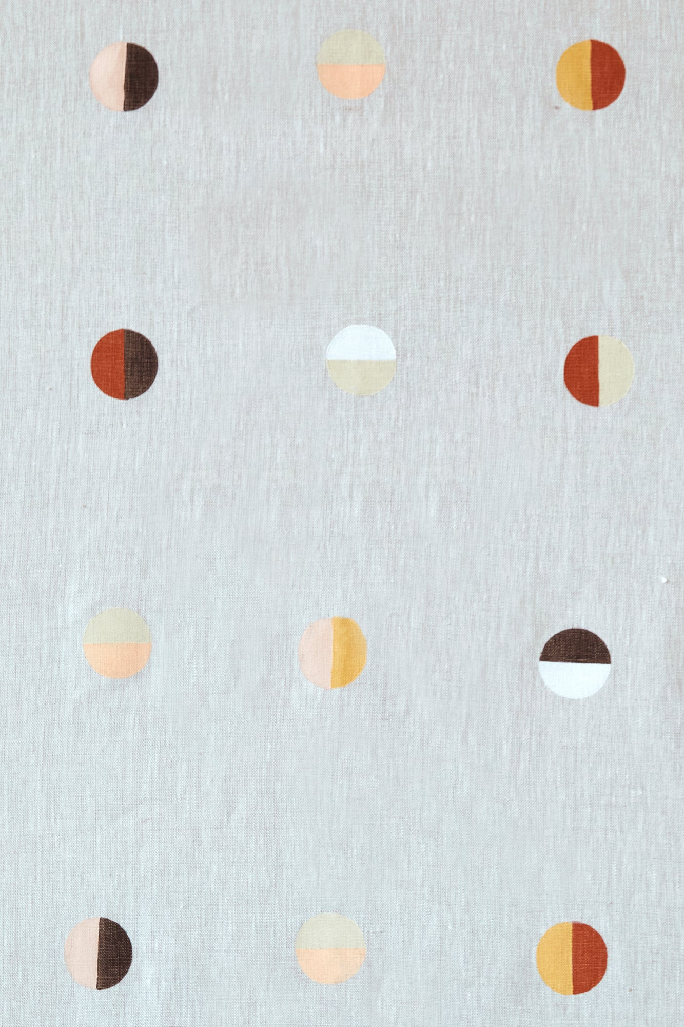 Desert Moons on Natural - Fabric By The Yard