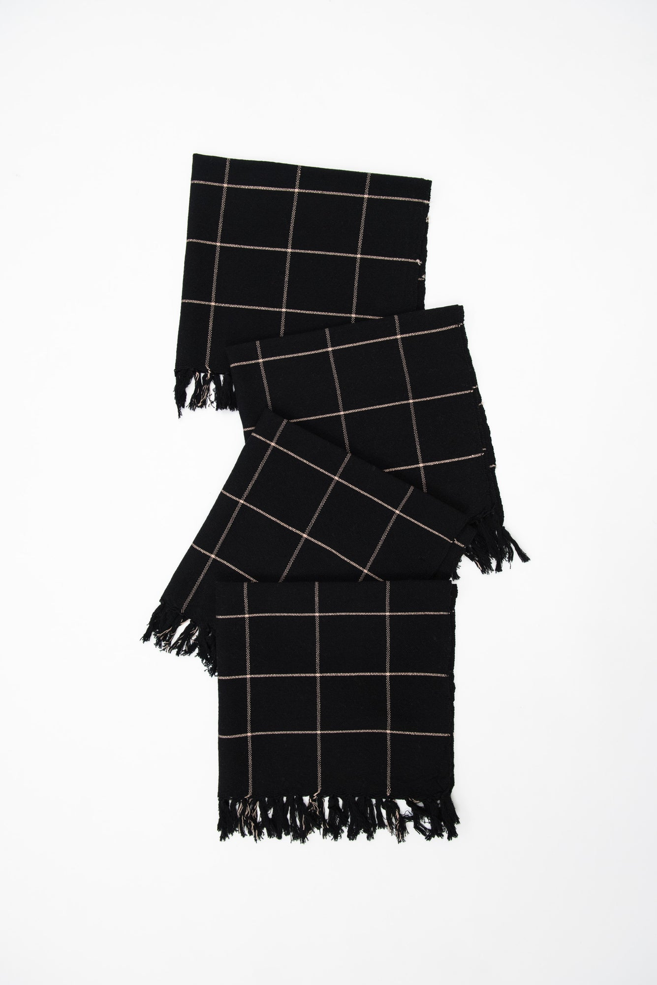 Big Sur Grid Black Napkins