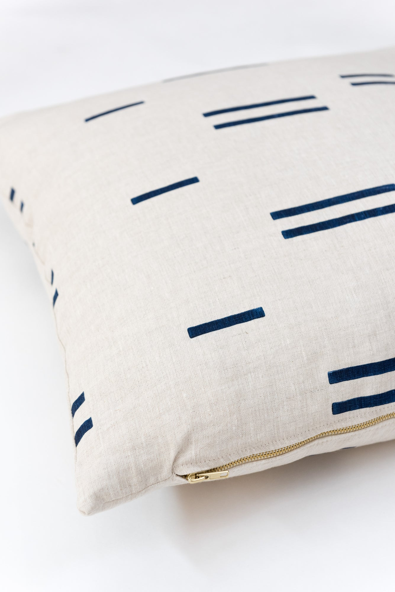 Oaxaca Navy on Natural Pillow