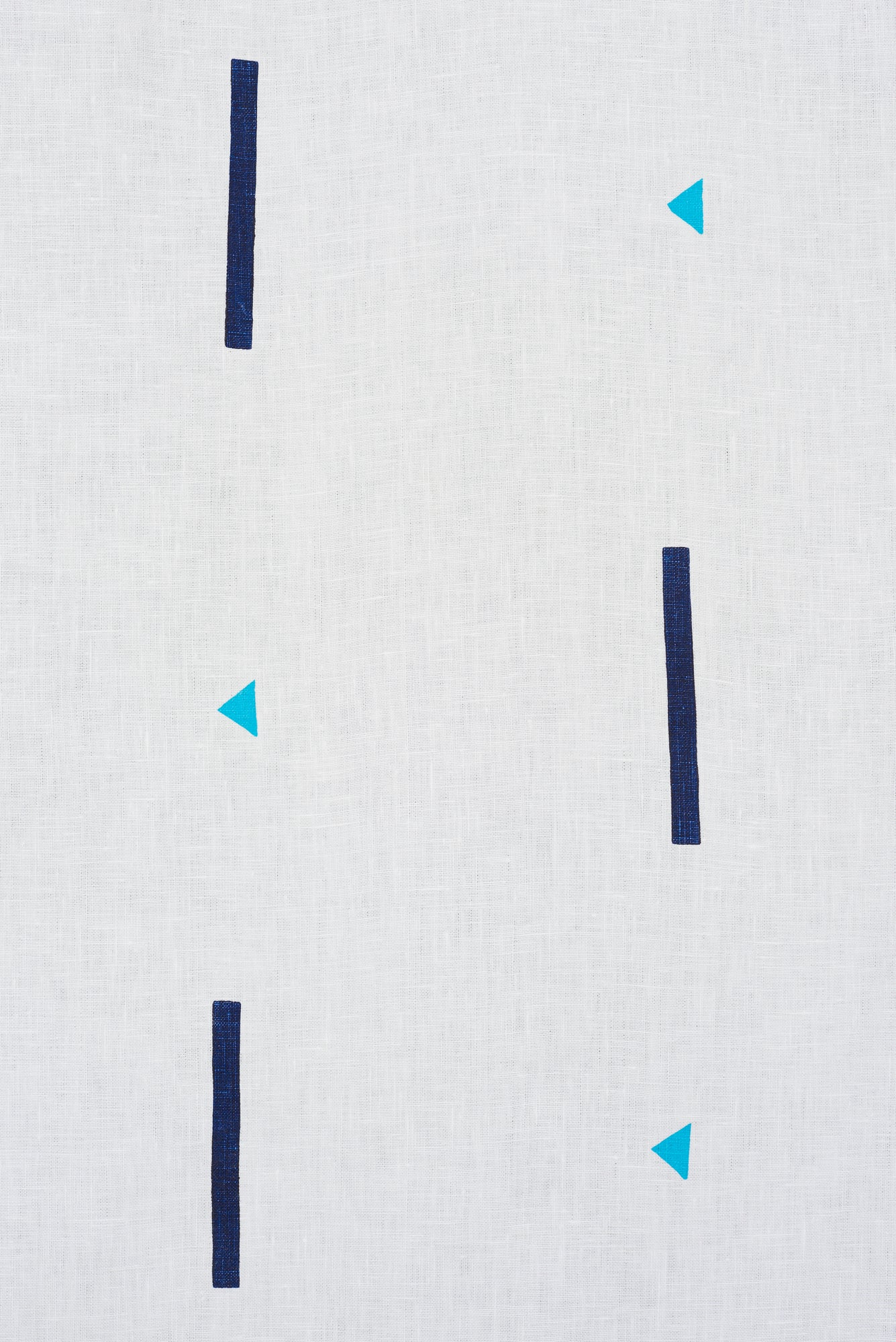 Tashmoo Turquoise & Navy - Fabric By The Yard