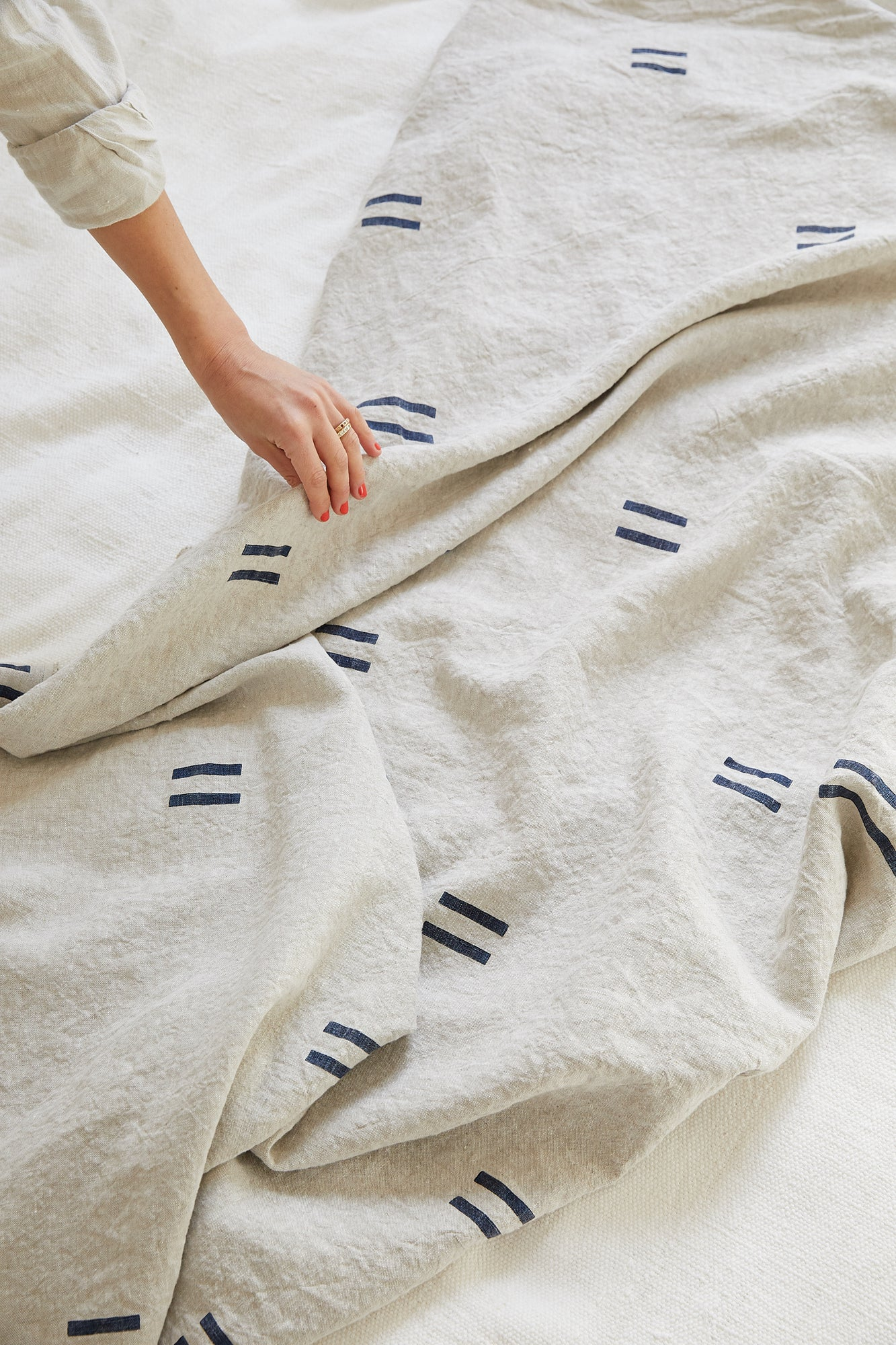 Oaxaca Navy Throw