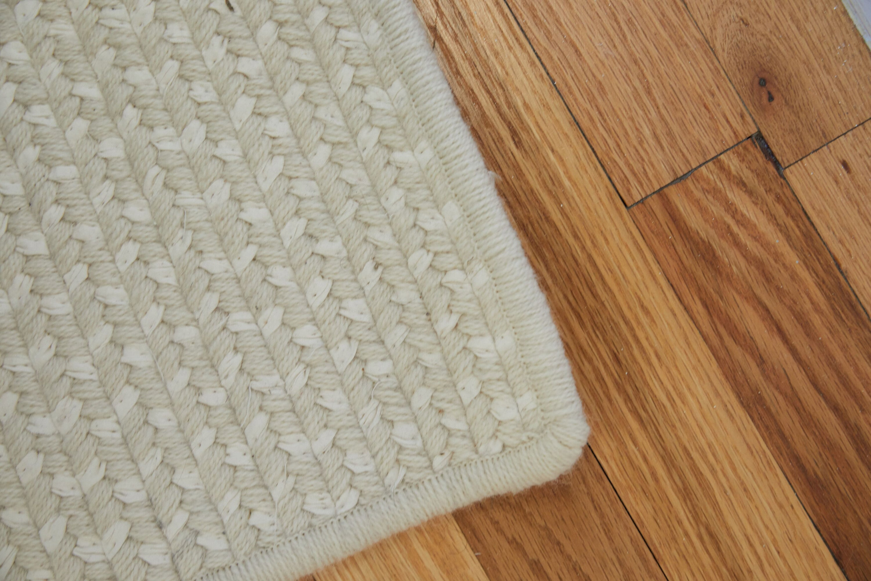 Woven Rug // Cream Wool & Recycled Blue Denim