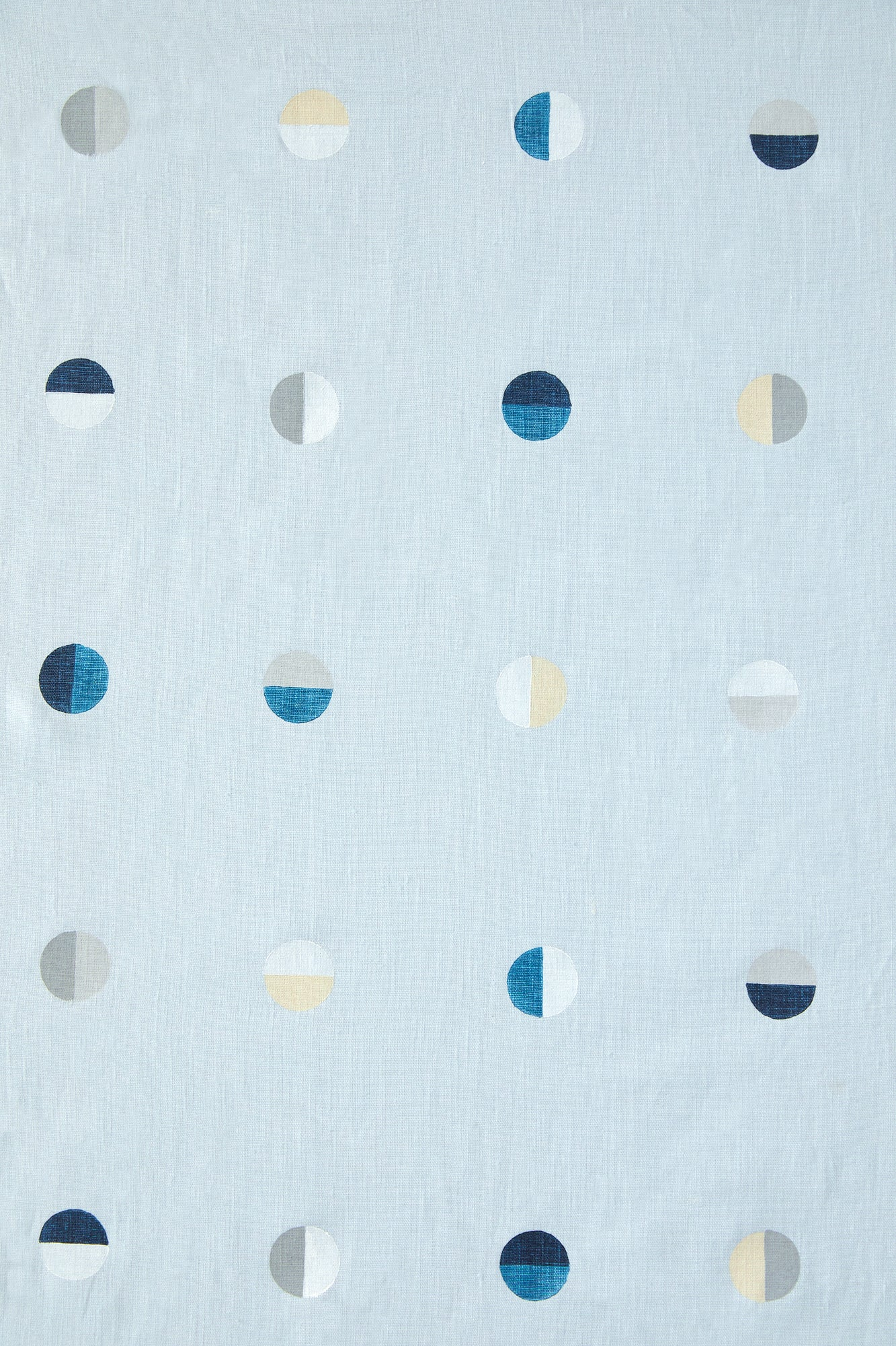 Multi Moons on Sky - Fabric By The Yard