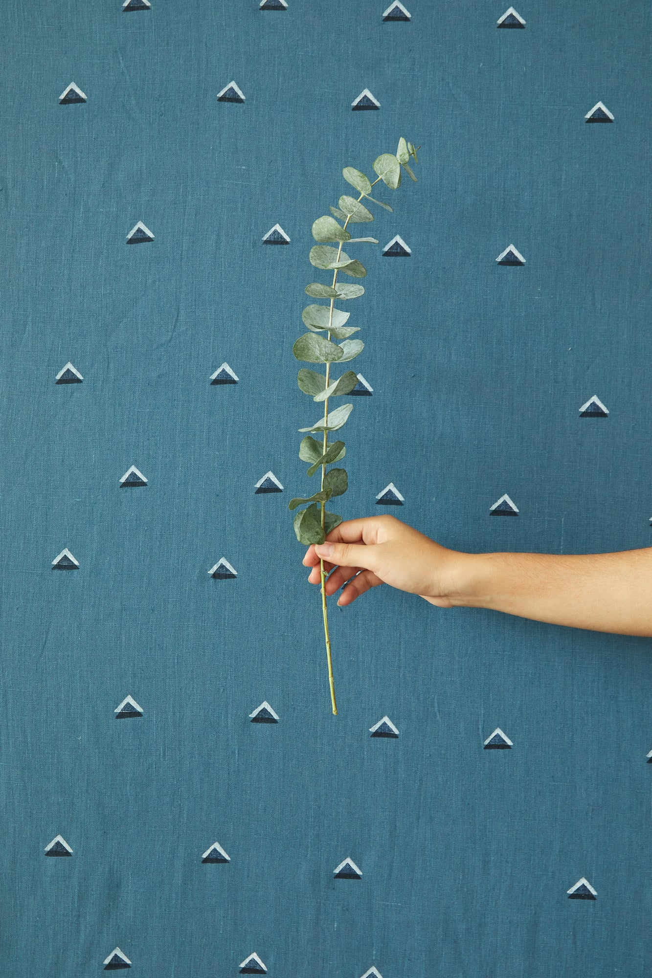 Double Triangle Sea - Fabric By The Yard