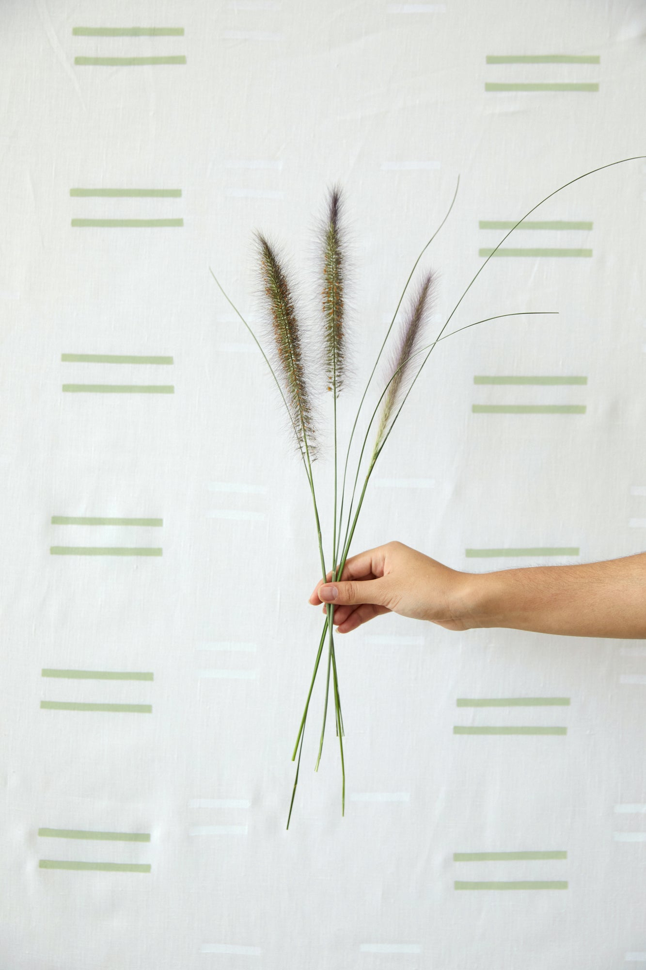 Oaxaca Grass on White - Fabric By The Yard