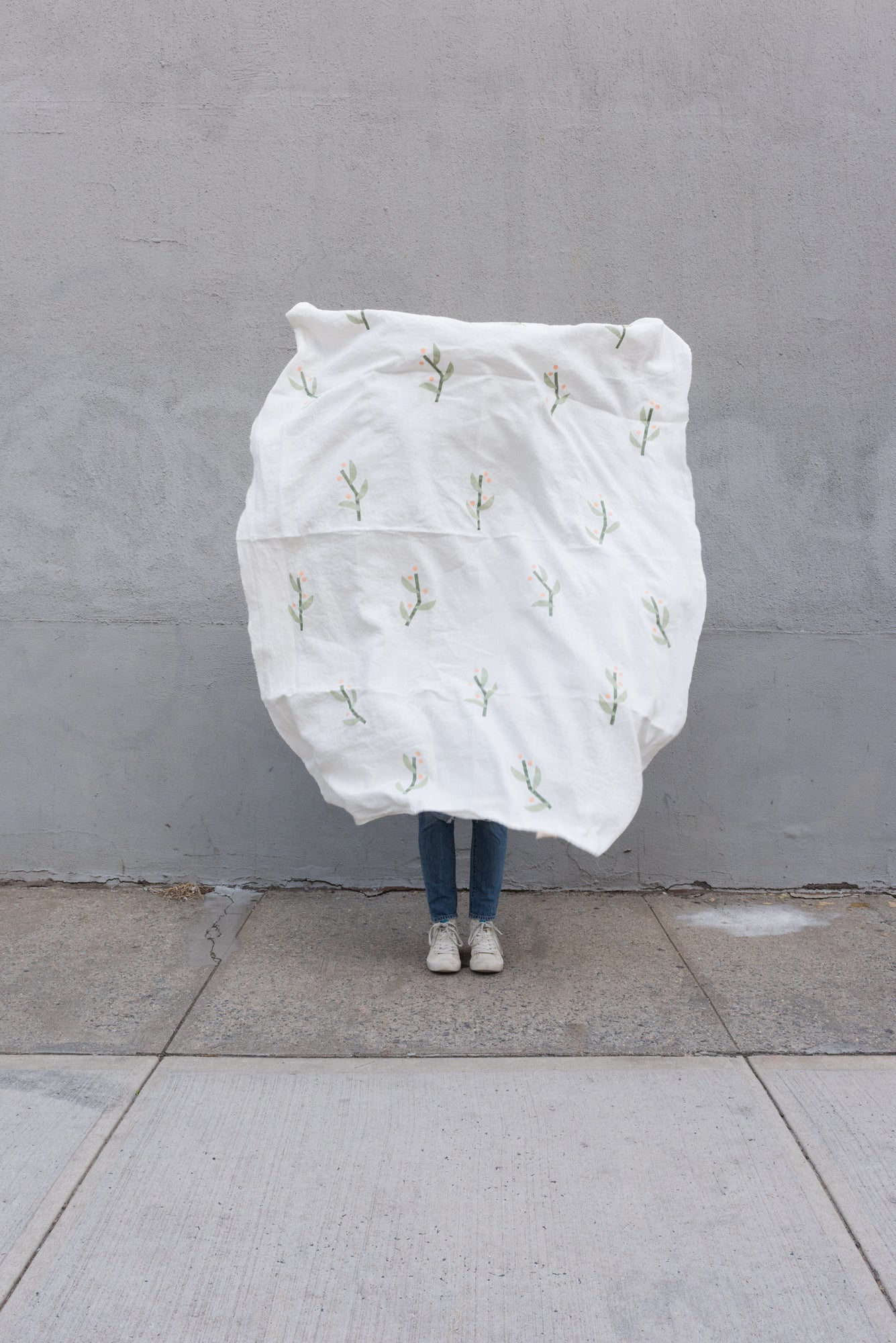 Nuba White Throw