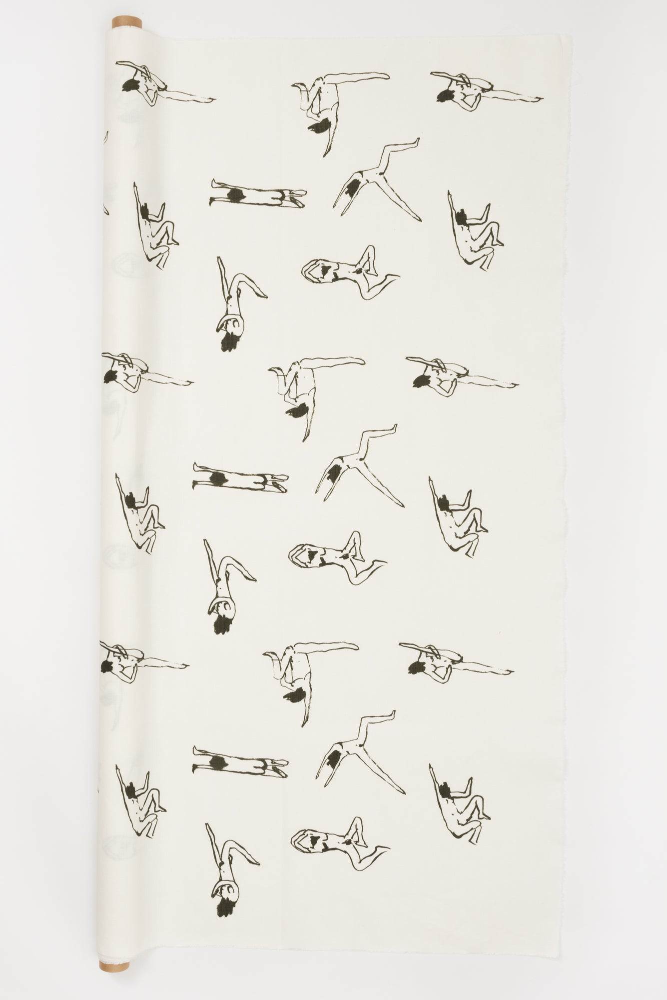 Naked Ladies Black - Fabric By The Yard